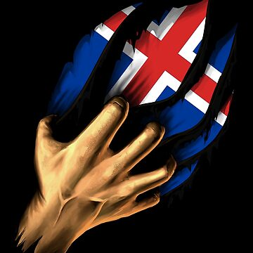 Icelandic in Me Iceland Flag DNA Heritage Roots Gift  by nikolayjs