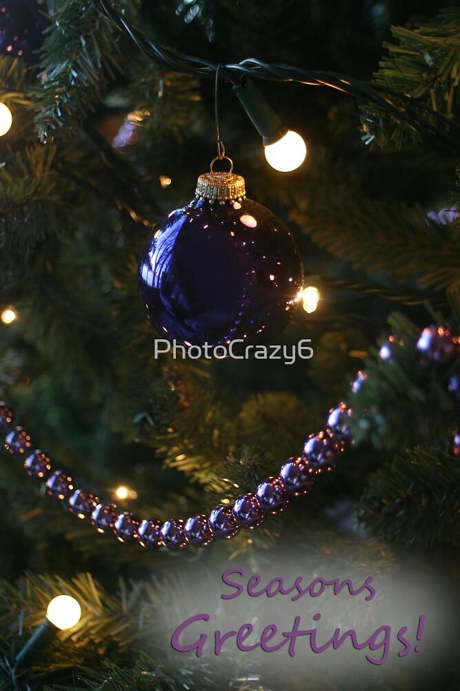 Seasons Greetings Christmas bulb by PhotoCrazy6