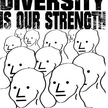NPC meme shirt diversity is our strength tee shirt by quatschkopp