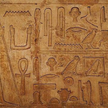 Egyptian hieroglyphs. British Museum, London by IgorPozdnyakov