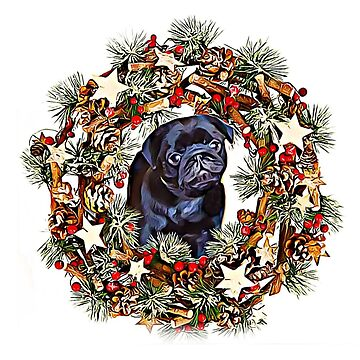Christmas pug puppy by ritmoboxers