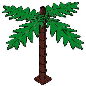 Lego palm tree by mecanolego