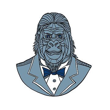 Gorilla Tuxedo Jacket Monoline Color by patrimonio