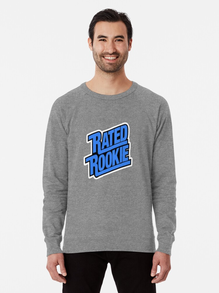 Rated Rookie Baseball Card Logo Lightweight Sweatshirt By Smoggysmoggy