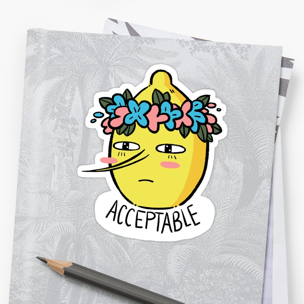 Soft Lemongrab  Stickers