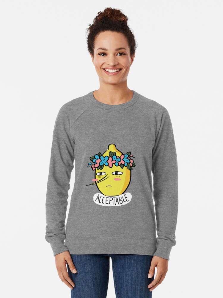 Alternate view of Soft Lemongrab  Lightweight Sweatshirt