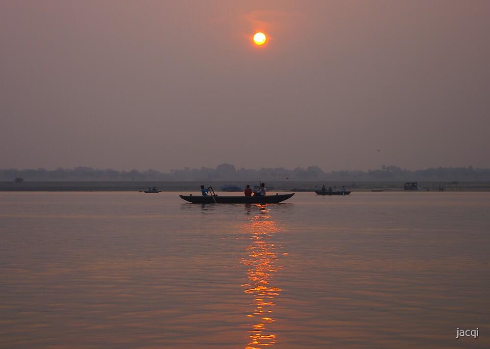 Sunrise on the Ganges, India by jacqi