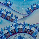 Houses in the Snow by FrancesArt