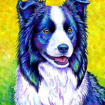 Colorful Border Collie Dog by lioncrusher
