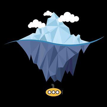 Iceberg Polar Expedition Submarine Flat Design - Gift Idea by vicoli-shirts