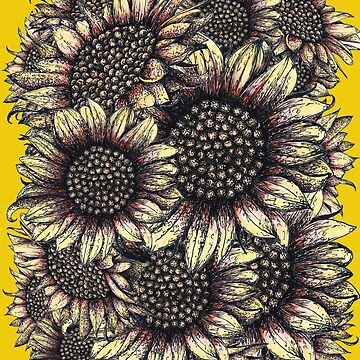 Red and Yellow Sunflowers by Surrealist1