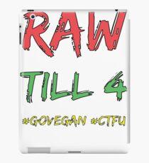Raw Till 4 - Black Outline iPad Case/Skin
