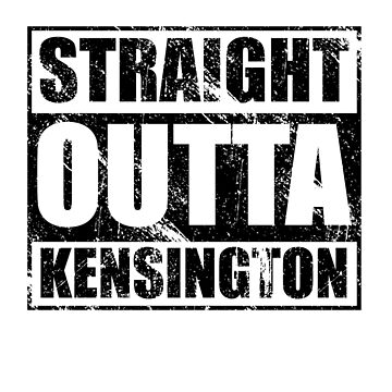 Kensington T-shirt Straight outta Kensington by kirei
