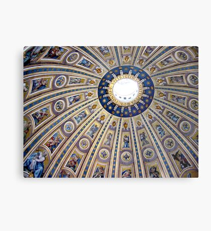 St Peter's dome, Vatican City Metal Print