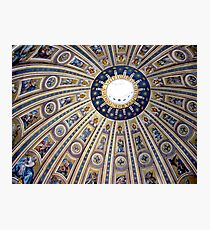 St Peter's dome, Vatican City Photographic Print