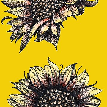 Realistic Red and Yellow Sunflowers by Surrealist1