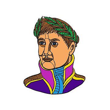 Emperor Napoleon Bonaparte Mono Line by patrimonio