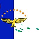 Azores Map with Flag of the Azores by Havocgirl