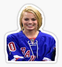 Margot Robbie New York Rangers Sticker