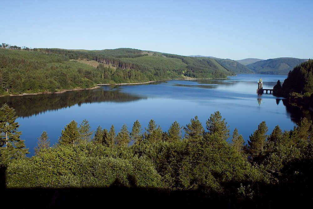 Lake Vrynwy, North Wales by Llanrwst