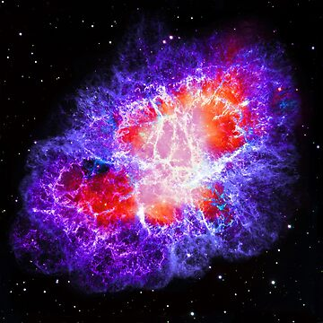 The Crab Nebula in Purple color shift outer space by Glimmersmith