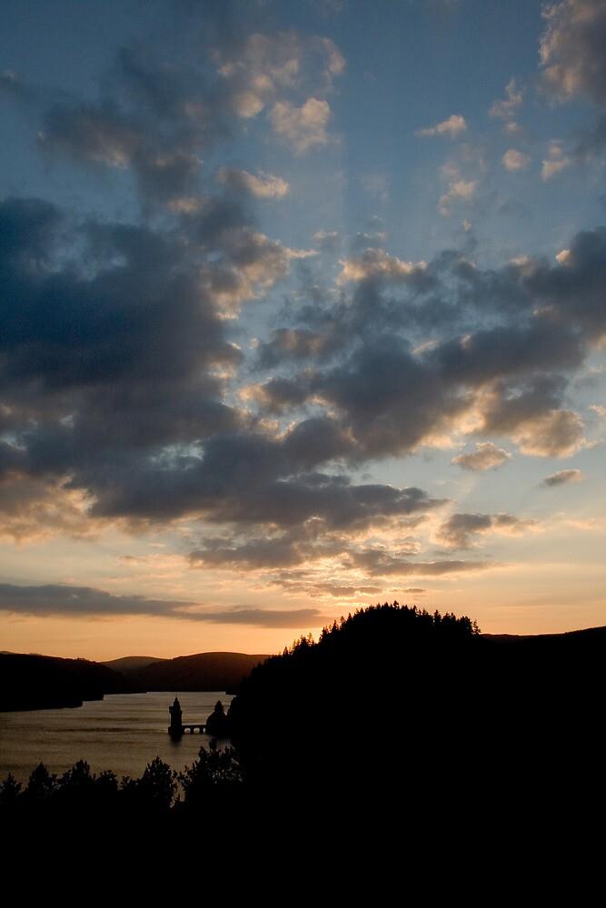 Sunset, Lake Vrynwy, Nth Wales by Llanrwst