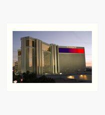 Las Vegas Mirage Sunset Art Print