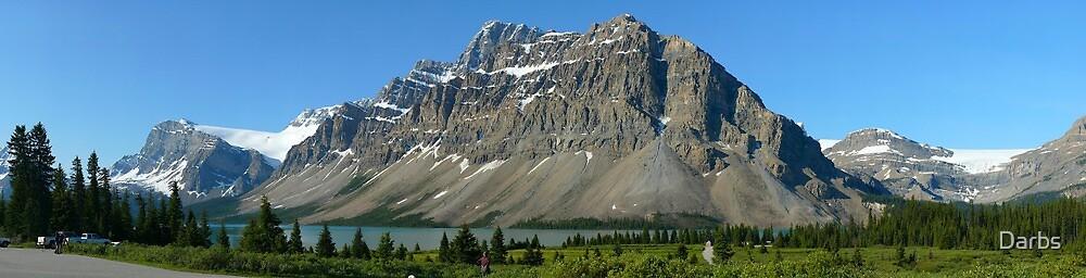 Bow Lake, Crowfoot Mountain...a Gigapan panorama by Darbs