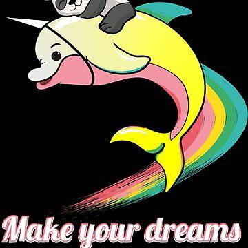 Dolphin panda unicorn rainbow by emphatic