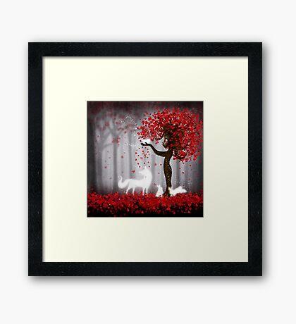 Magical Heart Tree Forest for Spirit Animals Framed Print