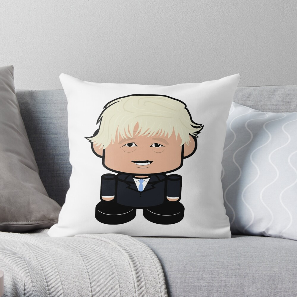Bojo POLITICO'BOT Toy Robot Throw Pillow