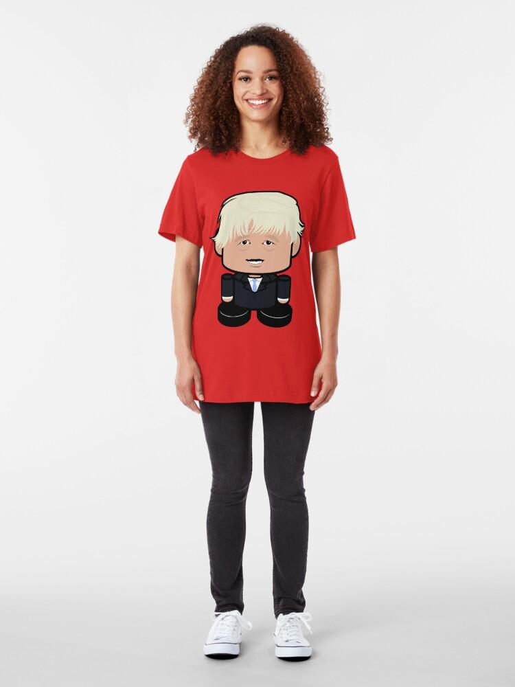 Alternate view of Bojo POLITICO'BOT Toy Robot Slim Fit T-Shirt