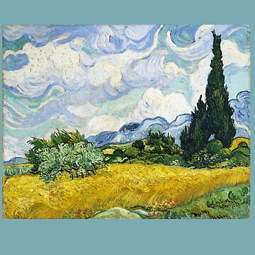 Wheatfield with Cypresses Vincent Van Gogh by buythebook86
