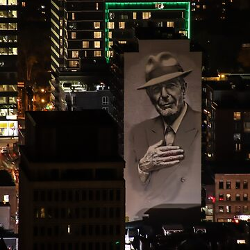 Montreal at Night Home of Leonard Cohen by hummingbirds