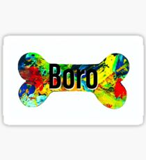 Swansboro dog bone  Sticker