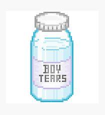 8-bit Boy Tears Photographic Print