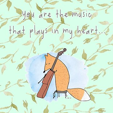 Foxy Plays Violin You Are The Music That Plays In My Heart ... Branches by 108dragons