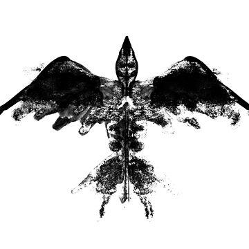 Inkblot Bird by metropol