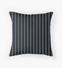Charcoal Gray and Black Vertical Stripes Floor Pillow