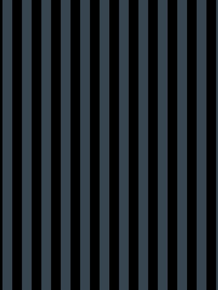 Charcoal Gray and Black Vertical Stripes by ColorPatterns