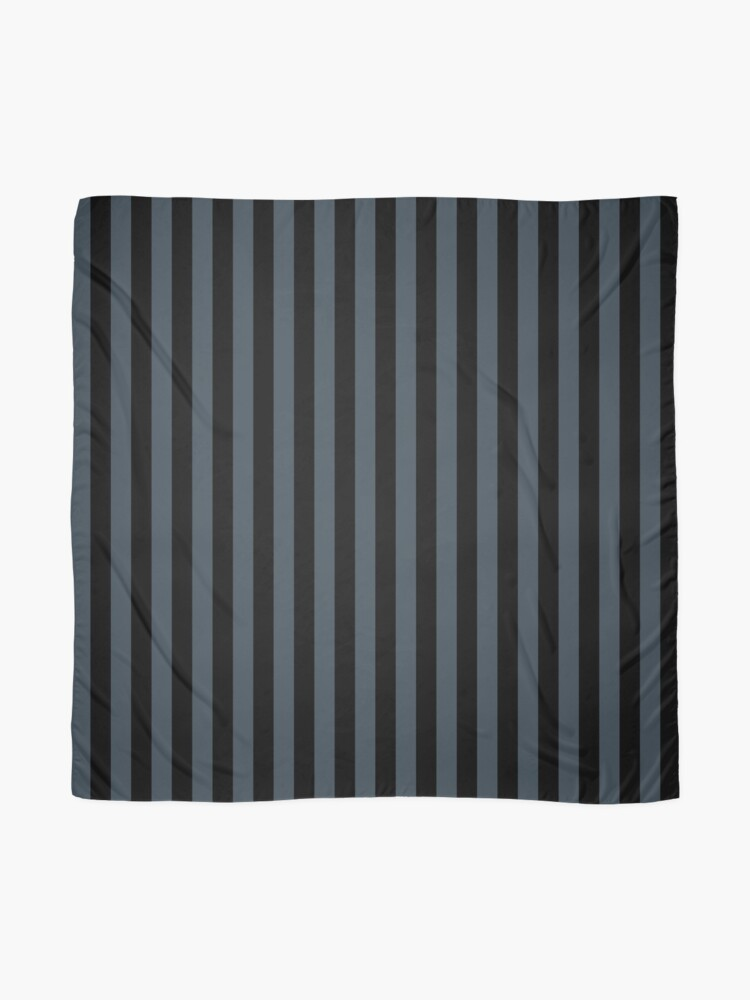 Alternate view of Charcoal Gray and Black Vertical Stripes Scarf
