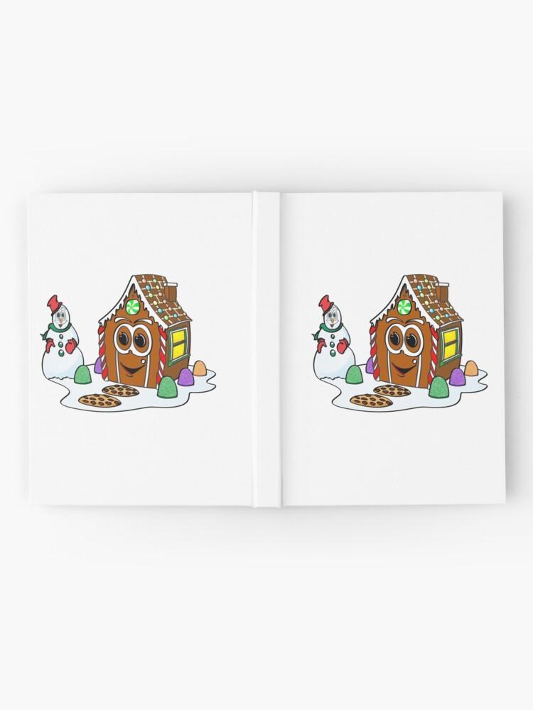 Vista alternativa de Cuaderno de tapa dura Gingerbread House Snowman Cartoon