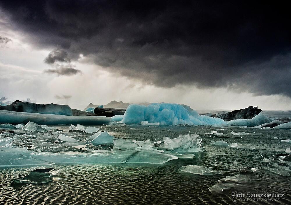 Blue Eyes of Glacier by Piotr Szuszkiewicz
