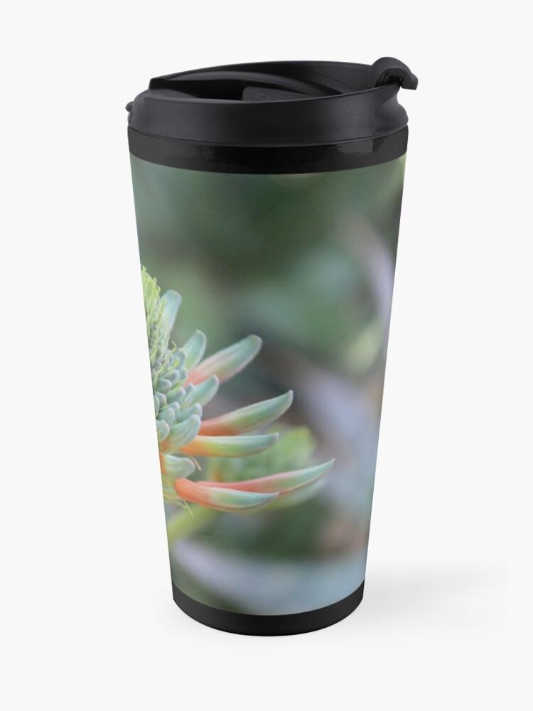 Alternative Ansicht von Hoher Kontrast Blume Thermobecher