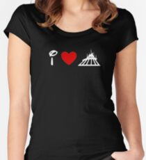 I Heart Space Mountain (Classic Logo) (Inverted) Women's Fitted Scoop T-Shirt