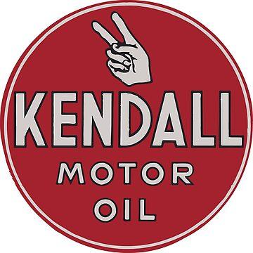 Kendall Vintage Motor Oil Sign by tfmotorworks