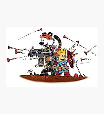 Calvin and Hobbes Inspired Captain and Soldier Parody Photographic Print