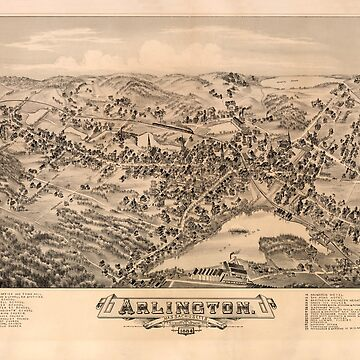 Aerial View of Arlington, Massachusetts (1884) by allhistory