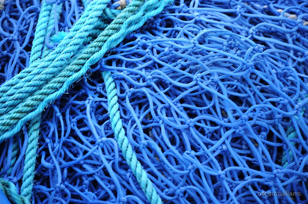 Blue fishing nets by oscarcwilliams
