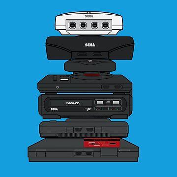 Sega Consoles by mattskilton